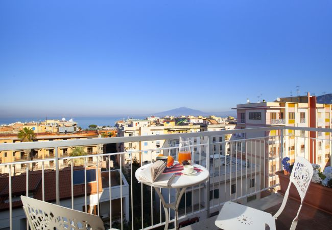 in Sorrento - Apartment Virginia with private Terracces, Air Conditioning, Sea View and Internet WI-FI