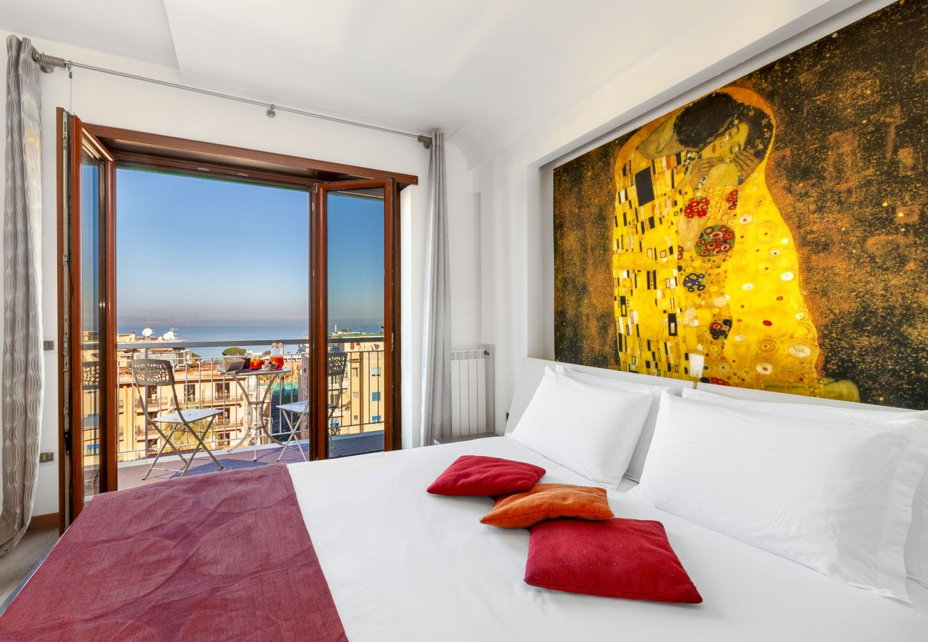 Apartment in Sorrento - Apartment Virginia 1 with Private Terrace, Sea View, Air Conditioning and WI-FI