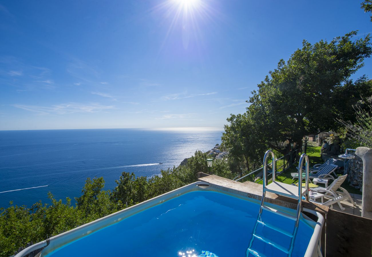 House in Praiano - Casa Luci with Private Pool, Sea View and Air Conditioning