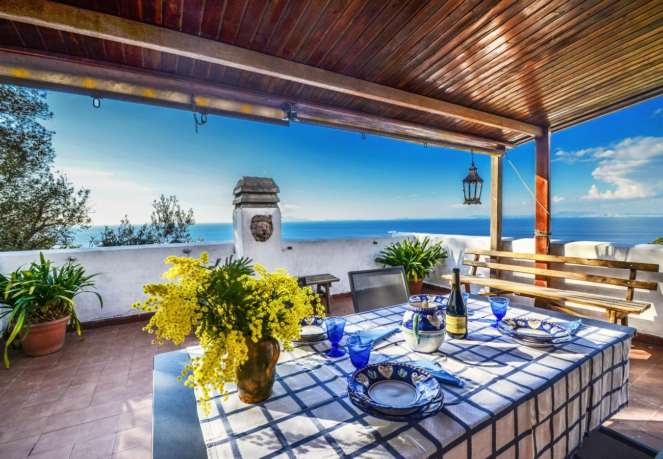 House in Massa Lubrense - Casa Marisa with Sea View, Terrace and Parking