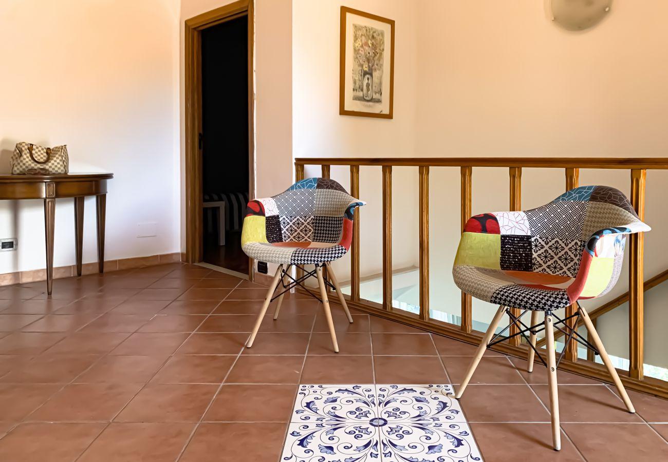 Villa in Sorrento - AMORE RENTALS - Villa La Selva with Sea View, Private Terrace and Parking