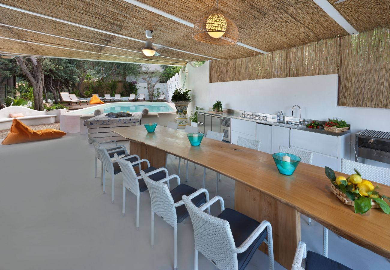 Villa in Nerano - AMORE RENTALS - Villa Ariadne with Dazzling Sea View, Jacuzzi, Pool and Breakfast