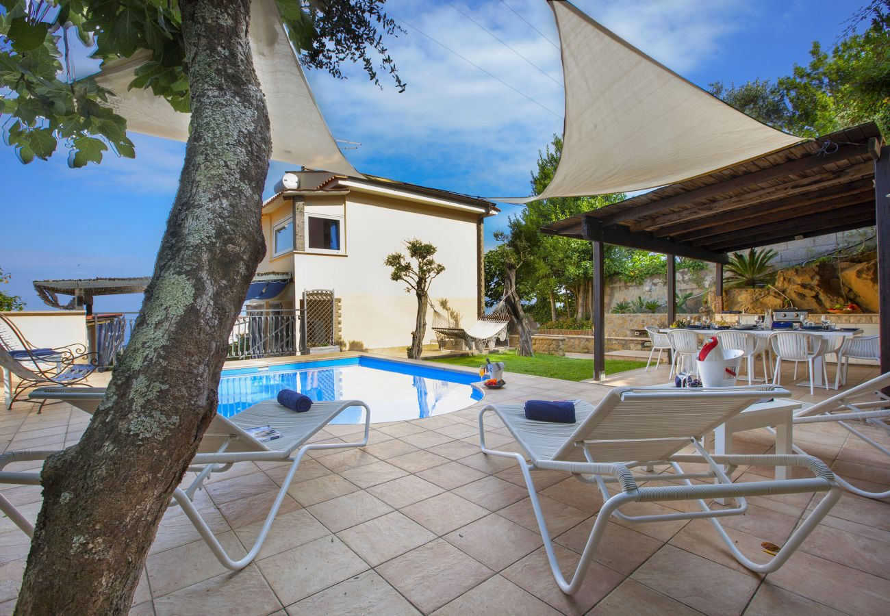 Villa in Massa Lubrense - Villa Felice with private pool, sea view in a quiet area, Massa Lubrense