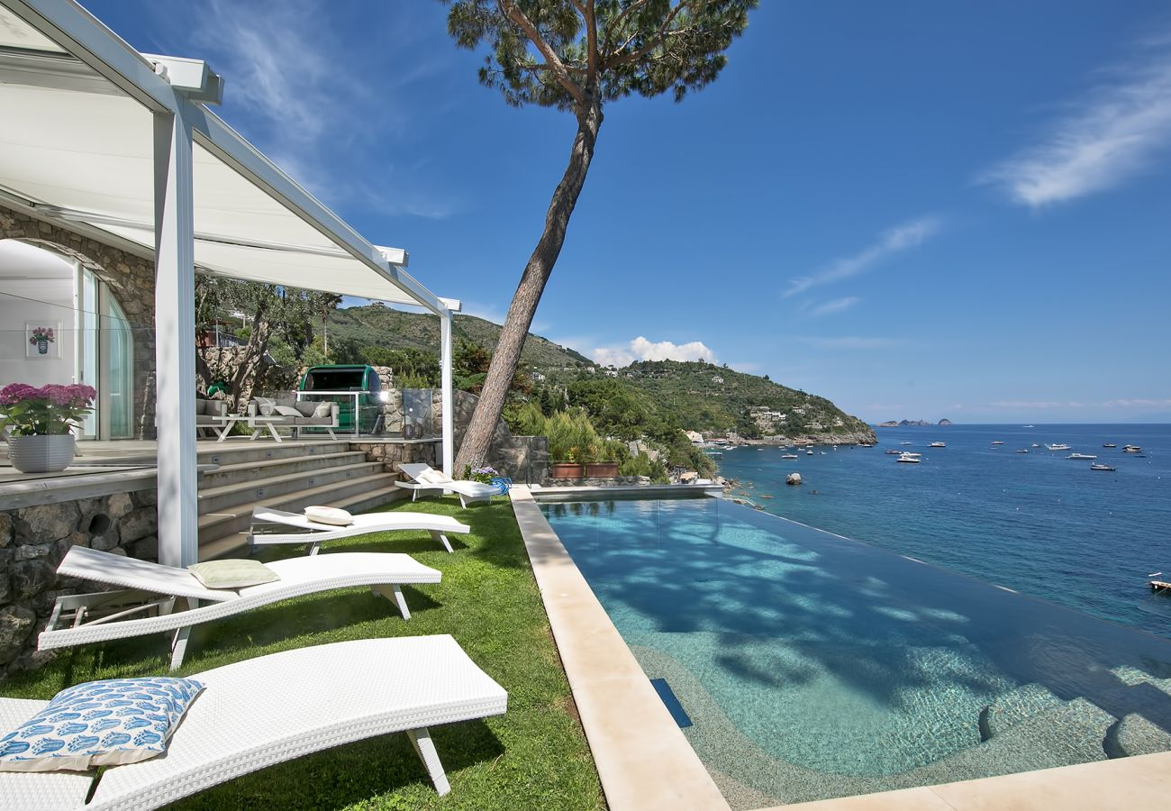 Villa in Nerano - Villa Ibiscus with Infinity Pool, Direct Sea Access, Sea View, Parking and Breakfast