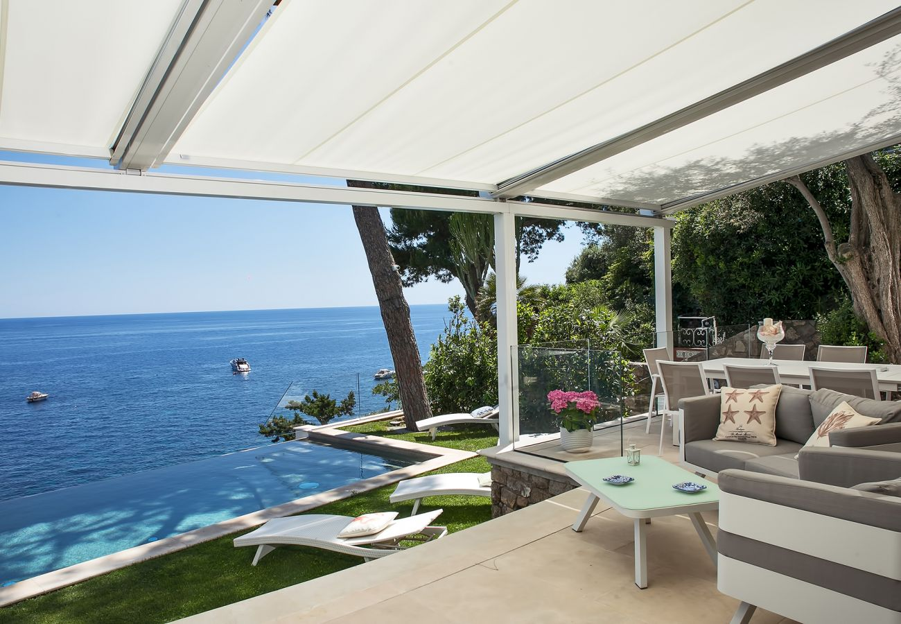 Villa in Nerano - AMORE RENTALS - Villa Ibiscus with Infinity Pool, Direct Sea Access, Sea View, Parking and Breakfast