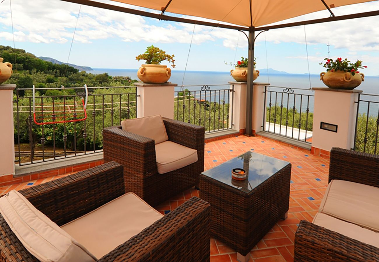 House in Massa Lubrense - Casa Tatano, 4 bedrooms, 3 bathrooms  with Private Pool, Sea View, Parking, South Italy