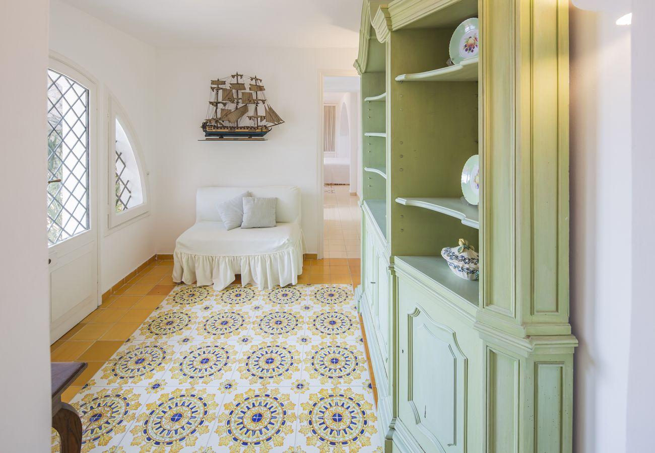 Villa in Massa Lubrense -  AMORE RENTALS - Villa Acquamarina with Private Pool, Sea View, Direct Sea Access and Parking