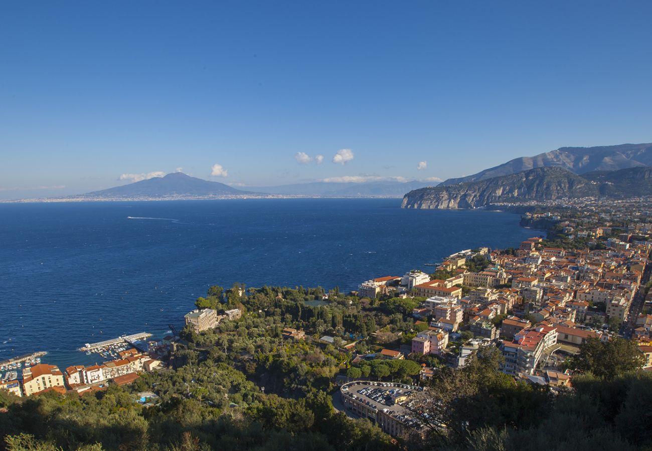 Villa in Sorrento - AMORE RENTALS -Villa Giada with Swimming Pool, Garden, Sea View and Parking