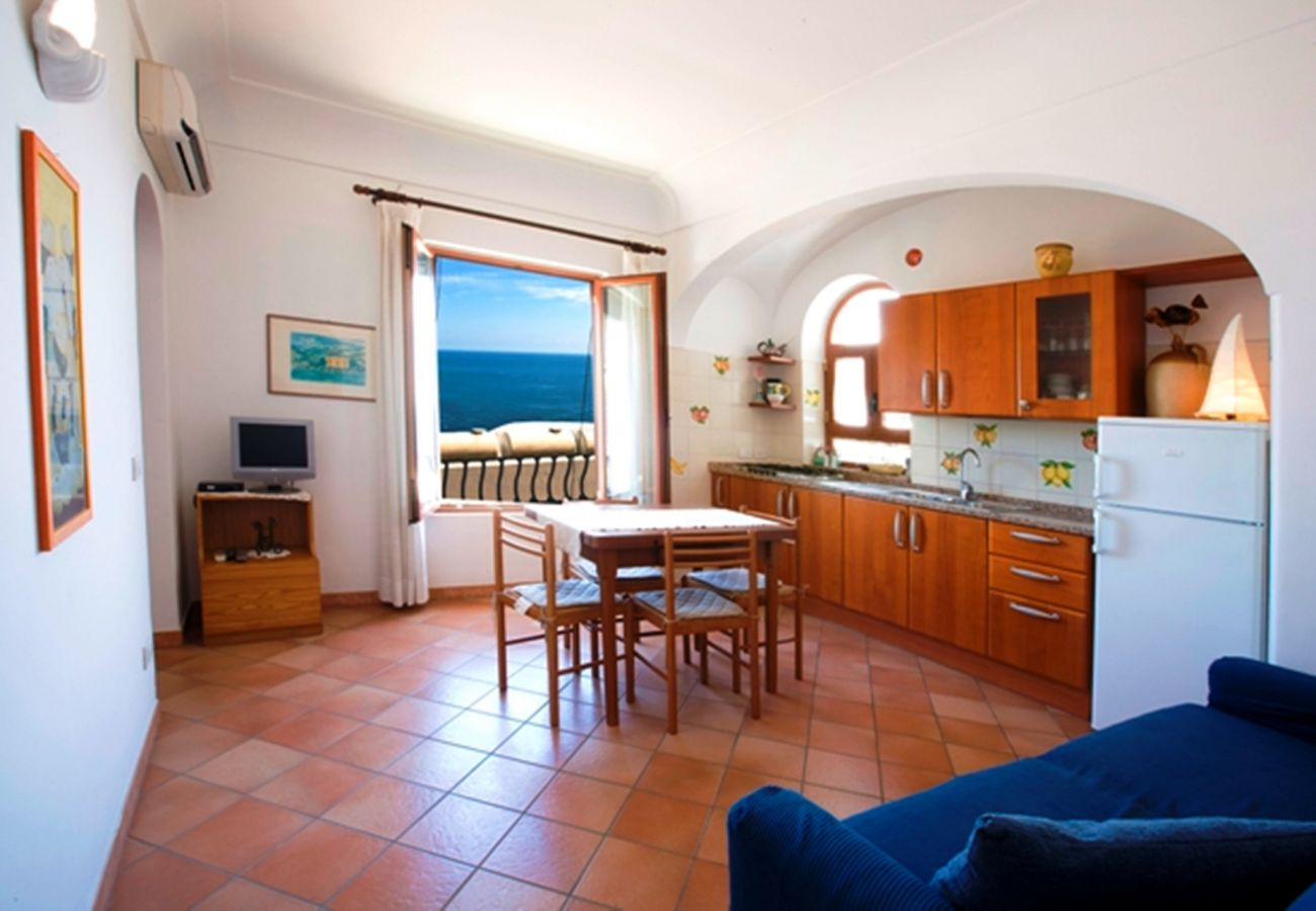 Apartment in Positano - AMORE RENTALS - Apartment Mare A with Sea View, Air Conditioning Positano Center