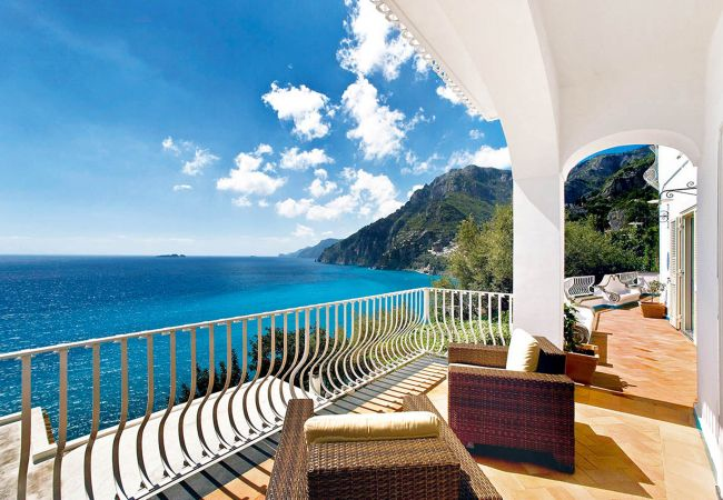 Villa/Dettached house in Positano - Villa Le Sirene with private Pool, Sea View, Air Conditioning and Breakfast
