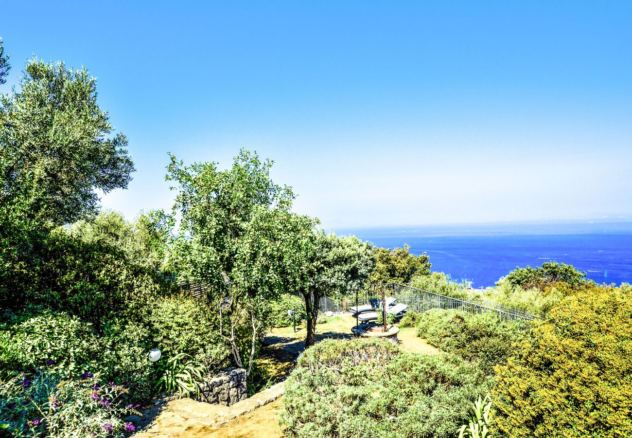 House in Sorrento - AMORE RENTALS - Casa La Giuggiola with Private Pool, Sea View, Garden and Parking