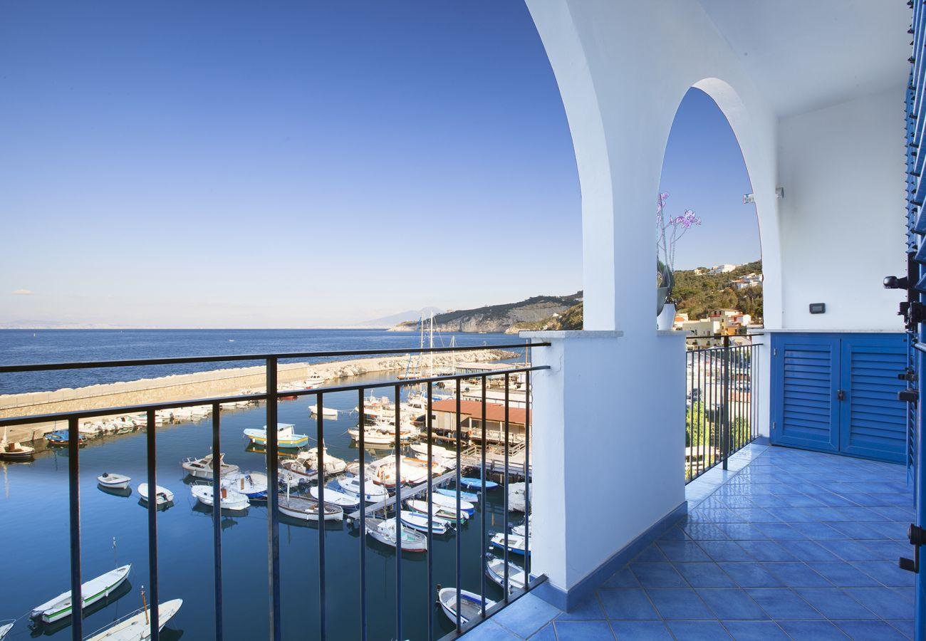 House in Massa Lubrense - AMORE RENTALS - Casa Il Tetto Azzurro Sea Front with private Terrace and Parking