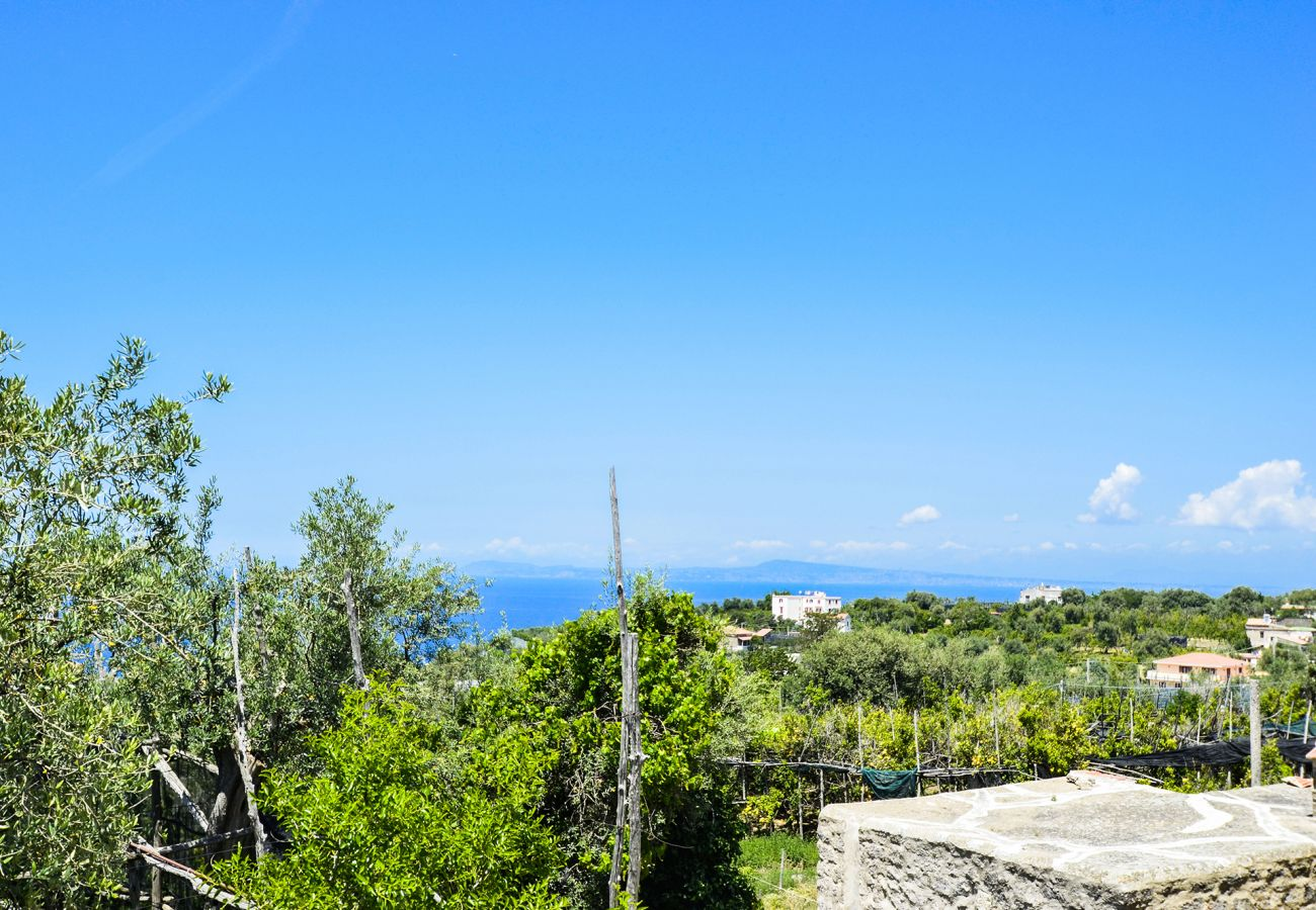 House in Massa Lubrense - Casa Tiberio with Garden, private Terraces and Sea View