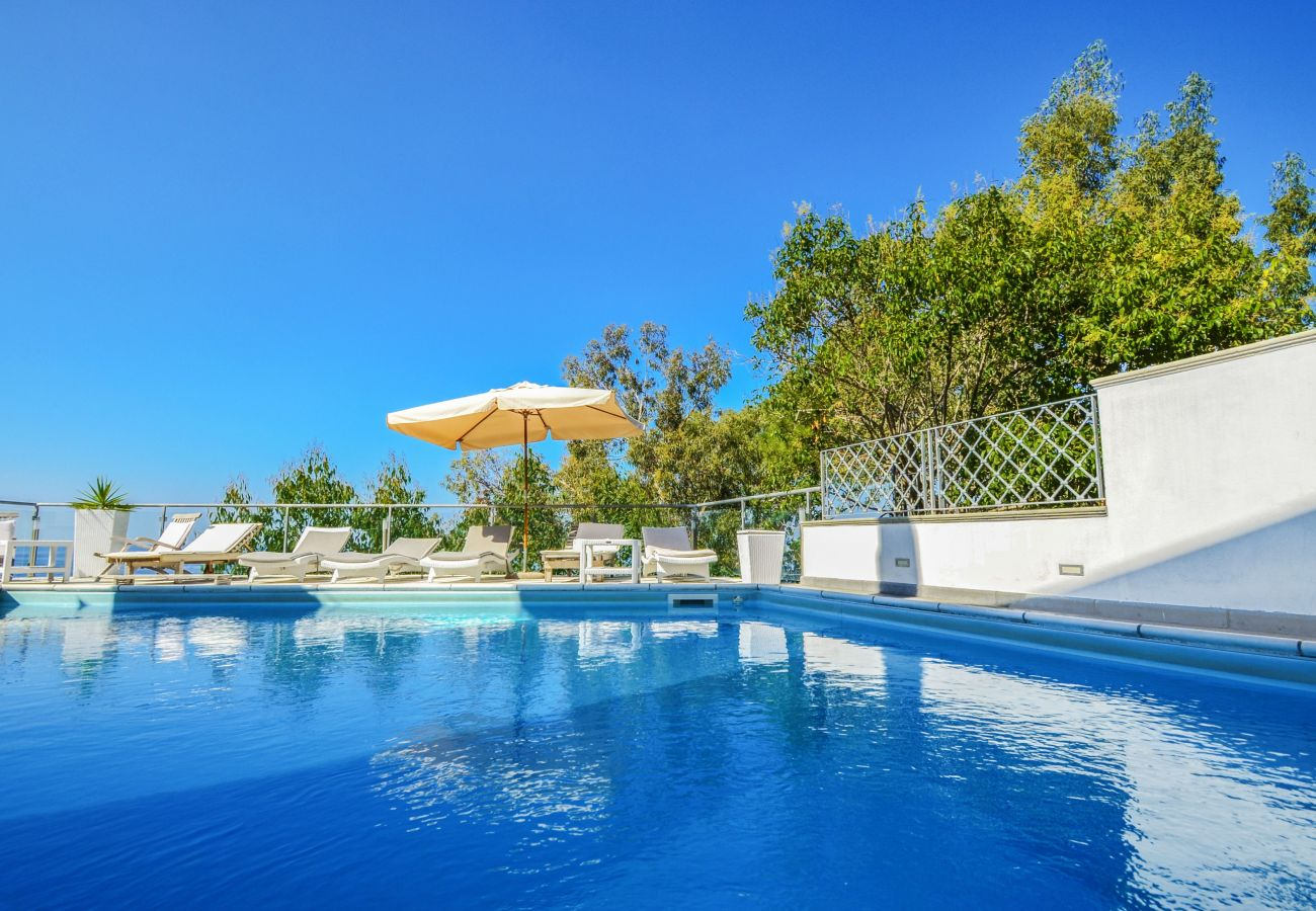 Villa in Massa Lubrense - Villa Terri with Sea View, Private Pool, Direct Sea Access and Parking