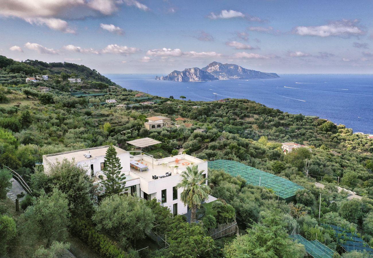 Villa in Massa Lubrense - AMORE RENTALS -Villa Elia 1 with Private Pool, Sea View, Terraces, Parking and Garden