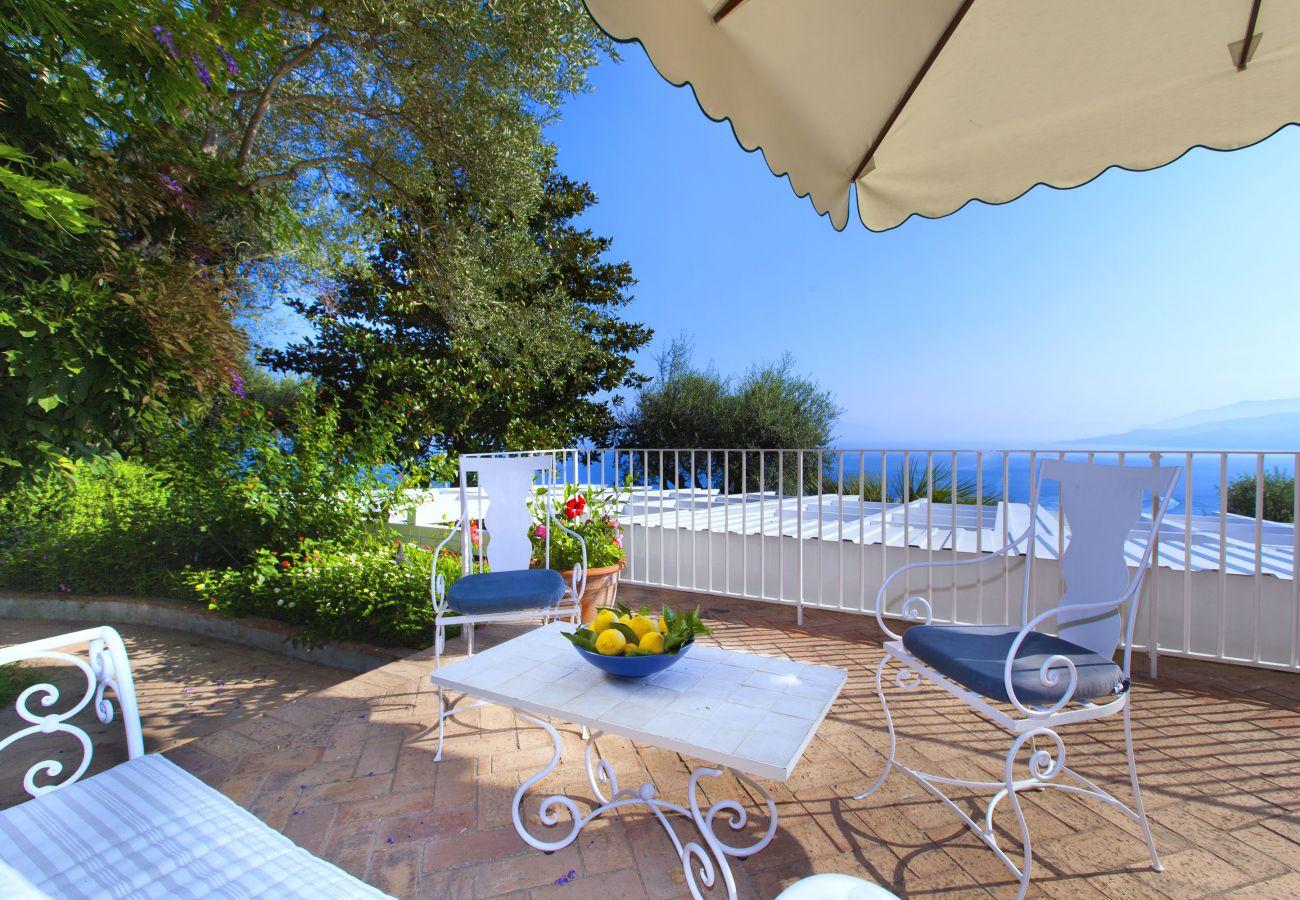 Villa in Capri - AMORE RENTALS - Villa Elena with Sea View, Jacuzzi, Garden and Terraces